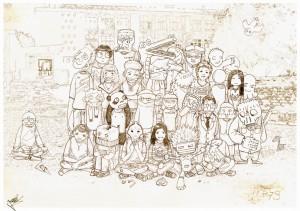 Photo de classe| Crayons, Photoshop | Travail Personnel | 2007